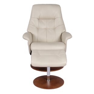 Safire Manual Swivel Recliner with Ottoman