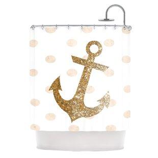 Glitter Anchor Shower Curtain