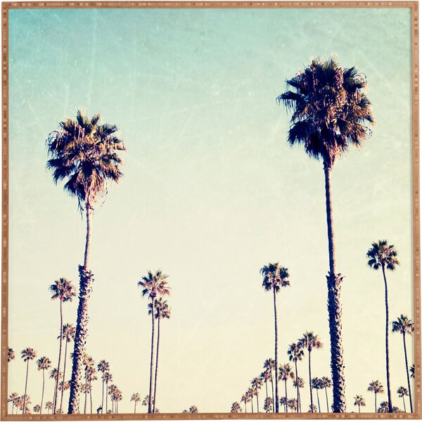 Deny Designs California Palm Trees Framed Wall Art