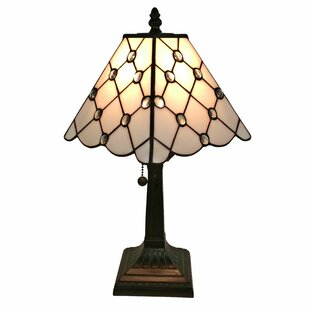 Very small tiffany lamps wayfair tiffany mission 15 table lamp mozeypictures Gallery
