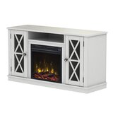 Emelia TV Stand for TVs up to 50 with Fireplace Included by Breakwater Bay