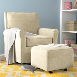 Barnwell Swivel Armchair and Ottoman by Harriet Bee