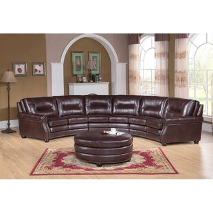 Red Barrel Studio Ganya Leather Modular Sectional with Ottoman