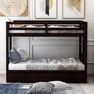 Horizon Twin over Twin LShaped Bunk Beds with Trundle by Harriet Bee