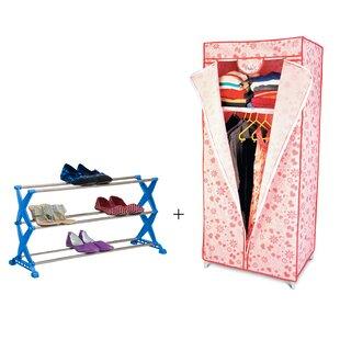 Rebrilliant 12 Pair Stackable Shoe Rack a..