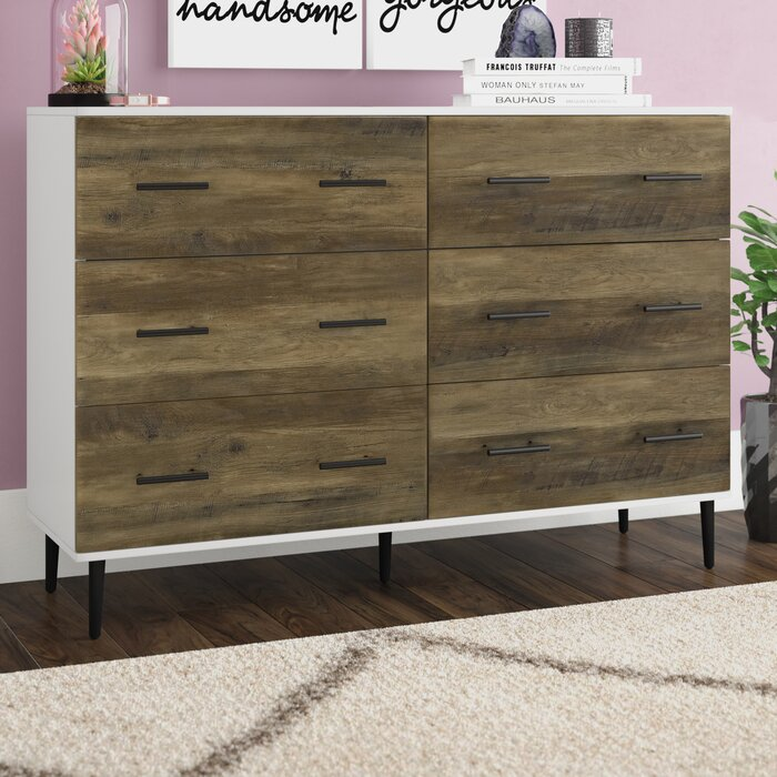 Langley Street Marc Reclaimed 6 Drawer Double Dresser Reviews Wayfair