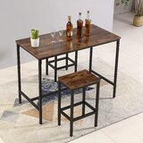 Cleaton 3 - Piece Counter Height Dining Set by Williston Forge