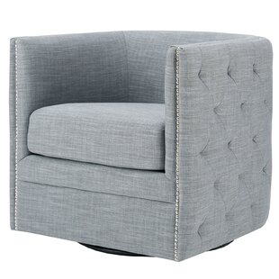 Lavaca Swivel Barrel Chair