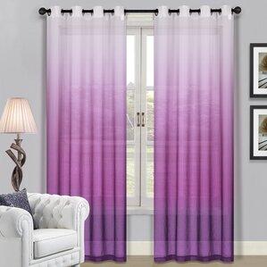Declan Solid Sheer Grommet Single Curtain Panel