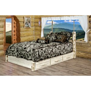 Abordale Clear Lacquer Storage Platform Bed by Loon Peak