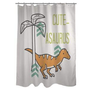 Cuteasaurus Dino Single Shower Curtain