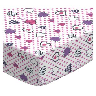 Best Reviews Love Hearts Portable Fitted Crib Sheet BySheetworld