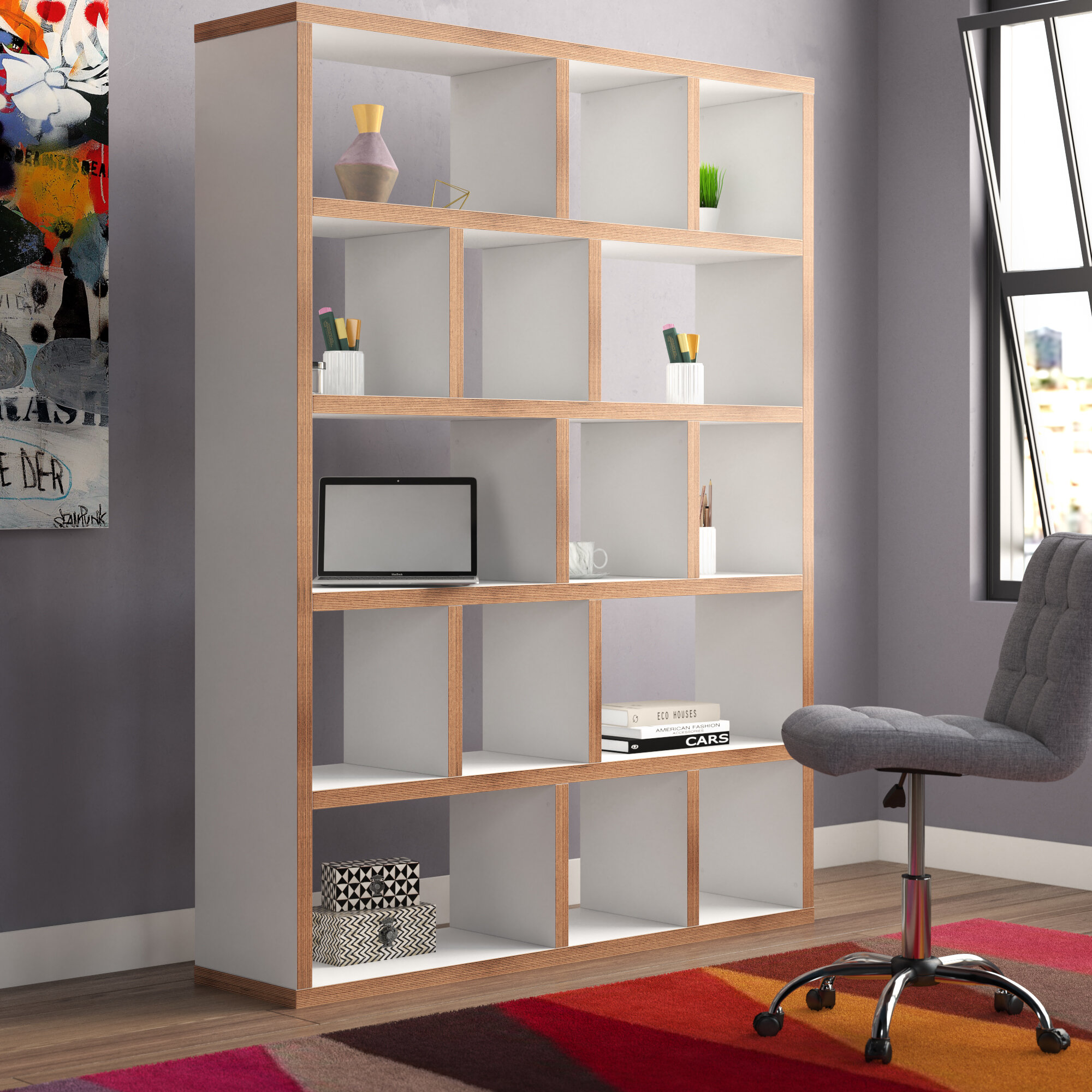 Varga 5 Level Geometric Bookcase