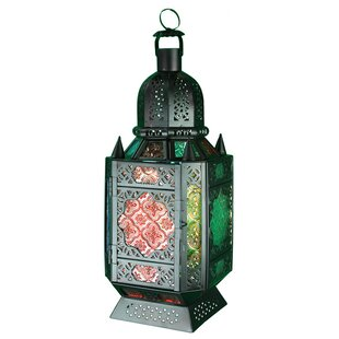 Metal and Glass Lantern by..