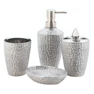 Wanda Hammered 4 Piece Bathroom Accessory Set By World Menagerie