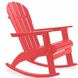 Solid Wood Rocking Adirondack Chair
