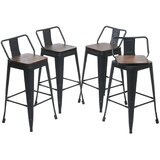 Haughton Swivel Bar & Counter Stool (Set of 4) by Williston Forge