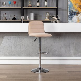 Adjustable Height Beige Bar Stools Counter Stools You Ll Love In 2021 Wayfair