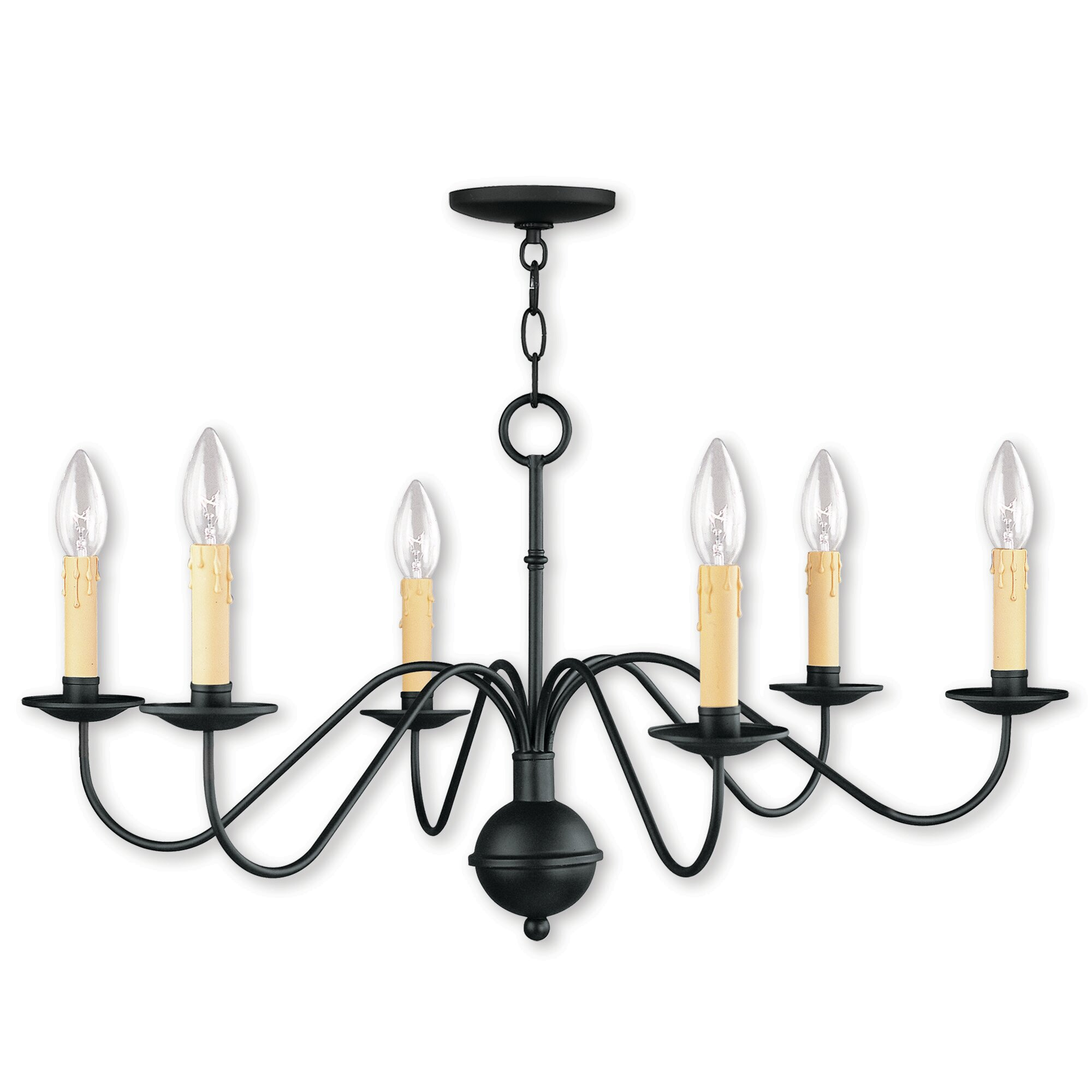 Darby Home Co Eberhart 6 Light Candle Style Classic Traditional Chandelier Reviews Wayfair