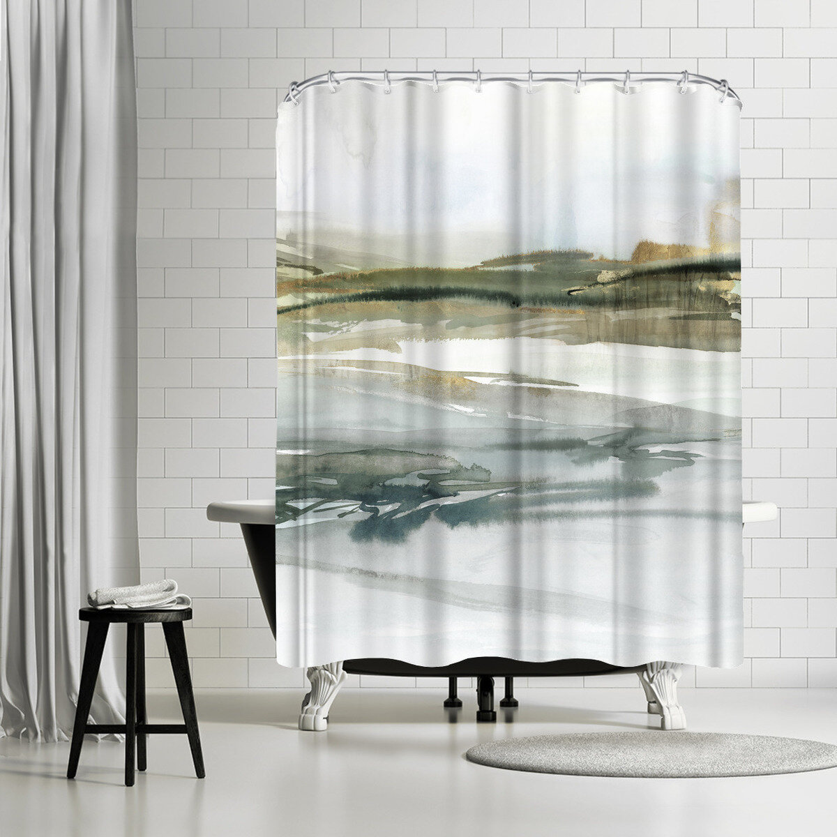 East Urban Home Pi Creative Art Prologue I Single Shower Curtain Wayfair