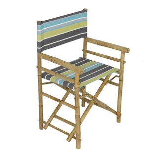 Yohana Bamboo Director Chair (Set of 2) by Bayou Breeze