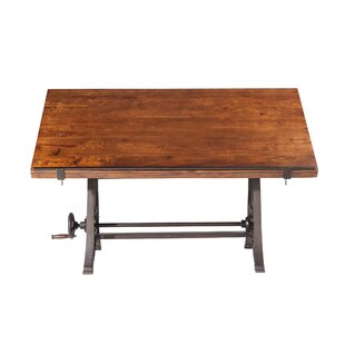 Christenson Reclaimed Adjustable Drafting Table by Gracie Oaks