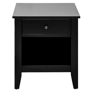 Best Reviews Garmon 1 Drawer Nightstand by Winston Porter