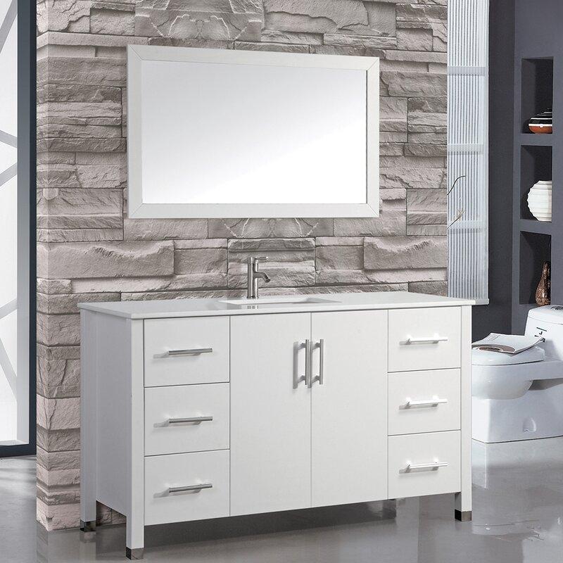 60 single sink bathroom vanity. Prahl 60\ 60 Single Sink Bathroom Vanity I