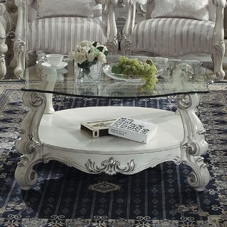 Welton Glass Top Coffee Table by Astoria Grand SKU:CD679651 Buy