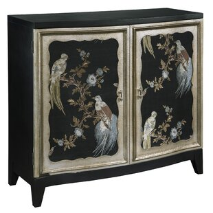 Romulus Bird Motif 2 Door Accent Cabinet by Bloomsbury Market