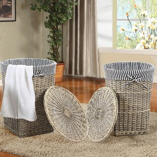 Affordable 2 Piece Wicker Laundry Set By Adeco Trading