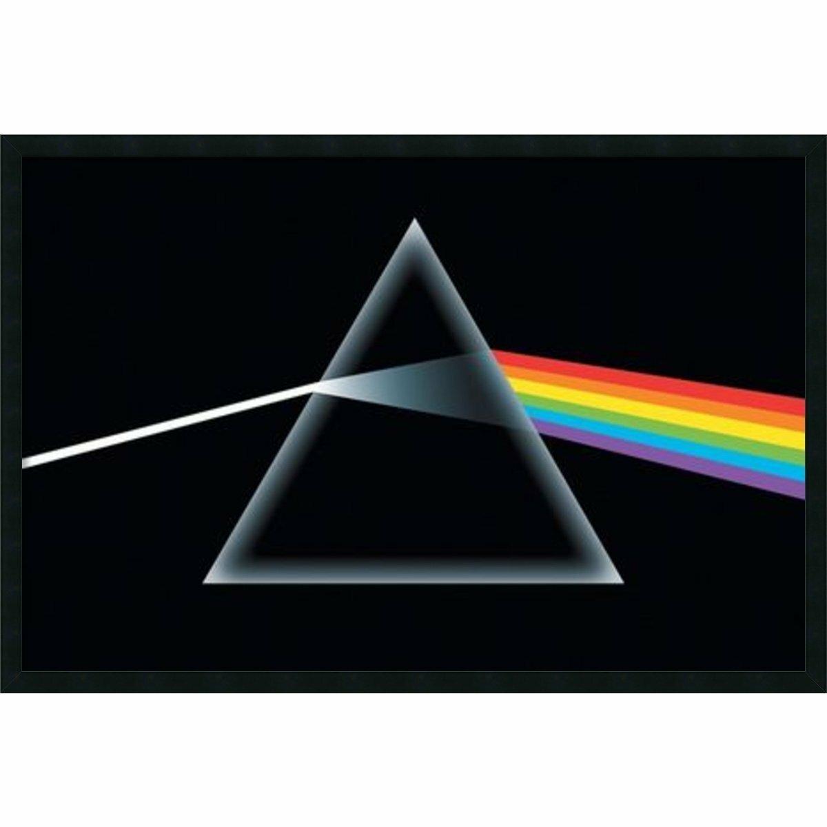 Buy Art For Less Pink Floyd Dark Side Of The Moon Prism Framed