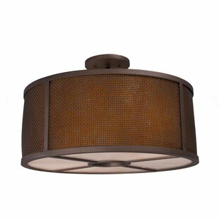 Steel Partners Whidbey 3-Light Semi Flush Mount