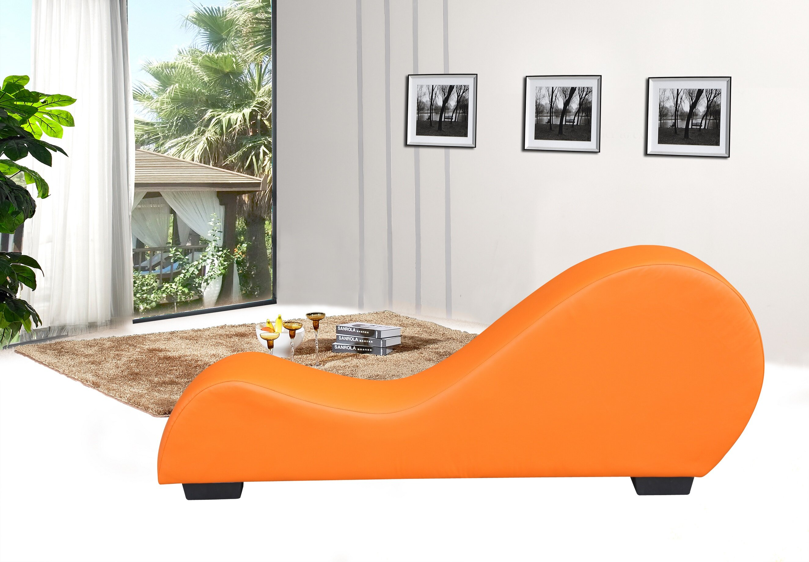 Container yoga chaise lounge wayfair for Chaise yoga