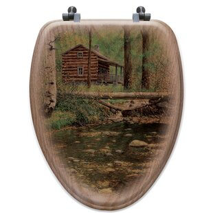 WGI-GALLERY Autumn Hideaway Oak Elongated Toilet Seat