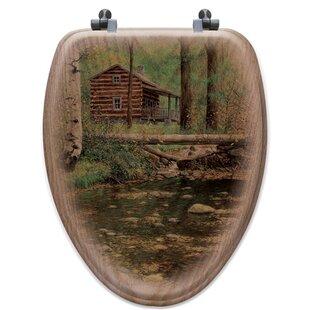 WGI-GALLERY Autumn Hideaway Oak Elongated Toilet Seat
