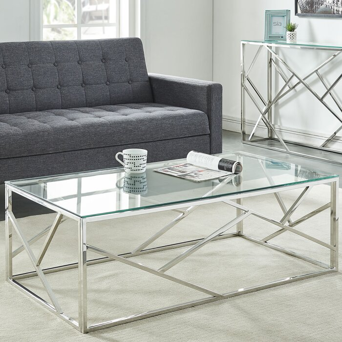 Mentzer Stainless Steel Coffee Table Set