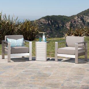 Royalston 3 Piece Conversation Set with Cushions
