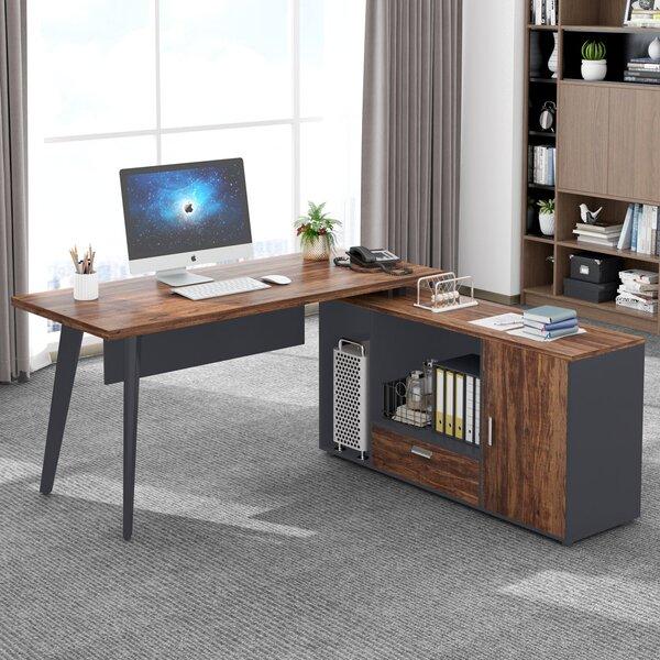 corrigan studio® l shaped desk with cabinet large