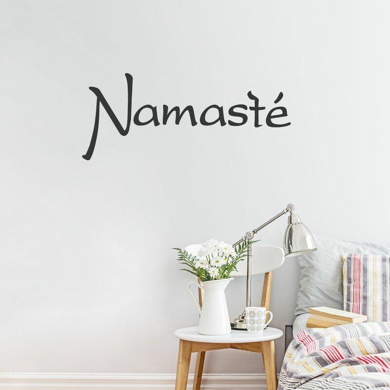 Wallums Wall Decor Namaste Wall Decal | Wayfair