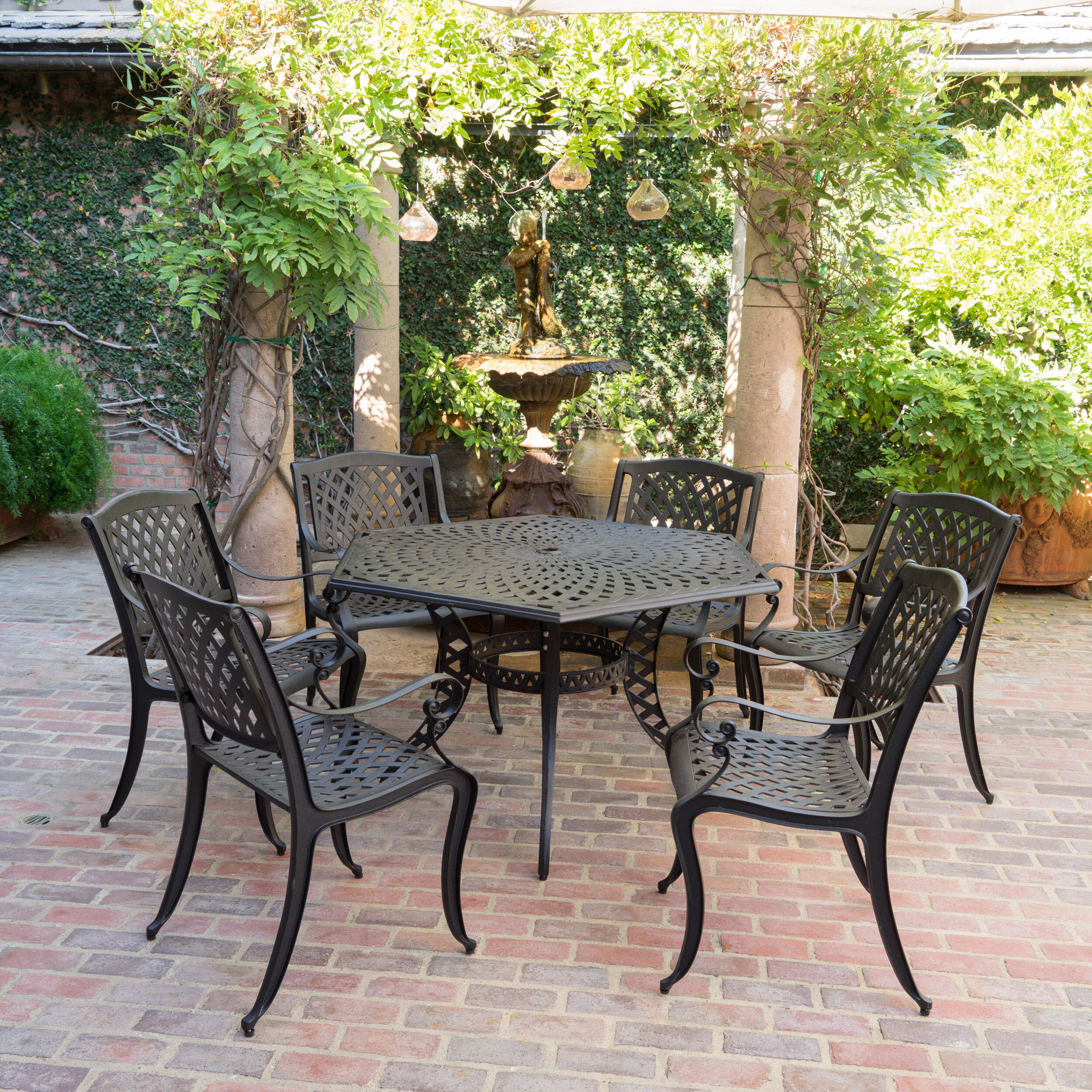 Darby Home Co Belmont 7 Piece Dining Set Reviews Wayfair