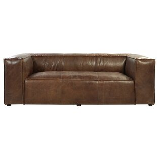 Shop for Regina Leather Sofa by 17 Stories Reviews (2019) & Buyer's Guide