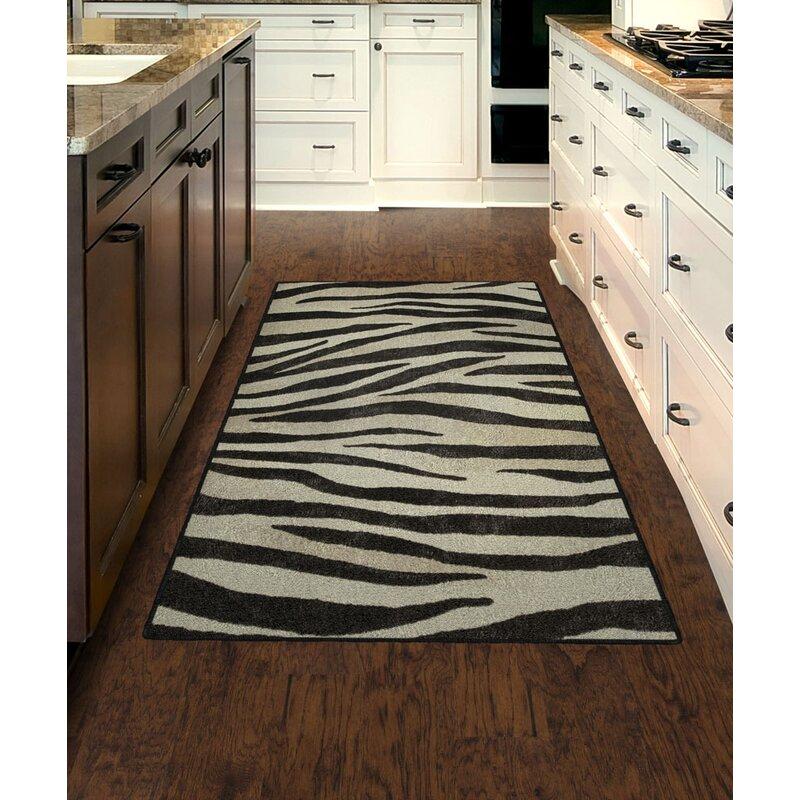 World Menagerie Metzger Zebra Stripes Animal Print Black Ivory Area Rug Reviews Wayfair