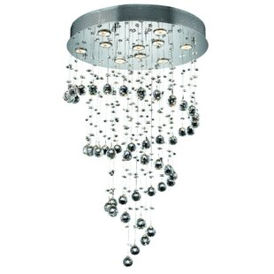 Everly Quinn Deidamia 10-Light Flush Mount