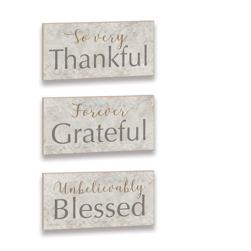 Be Grateful Picture Brown Wooden Home Decor Country Wall Hanging Sign Plaque