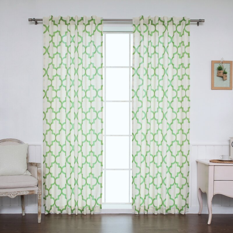 Moroccan Geometric Sheer Rod Pocket Curtain Panels Reviews