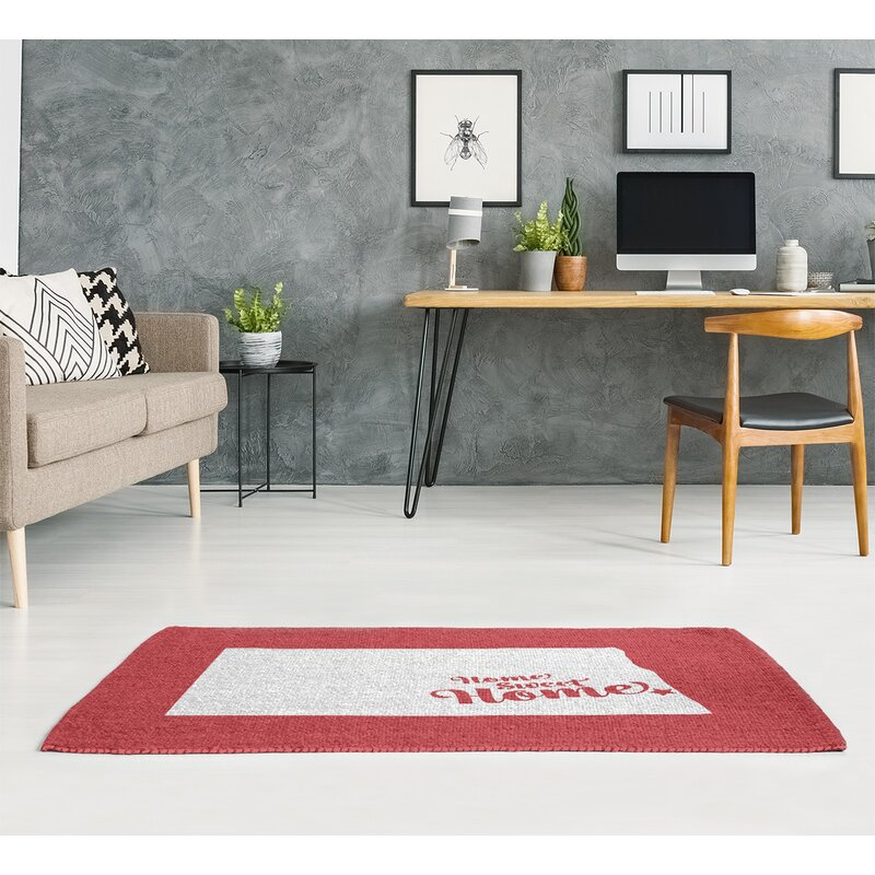East Urban Home Home Sweet Fargo Red Area Rug Wayfair
