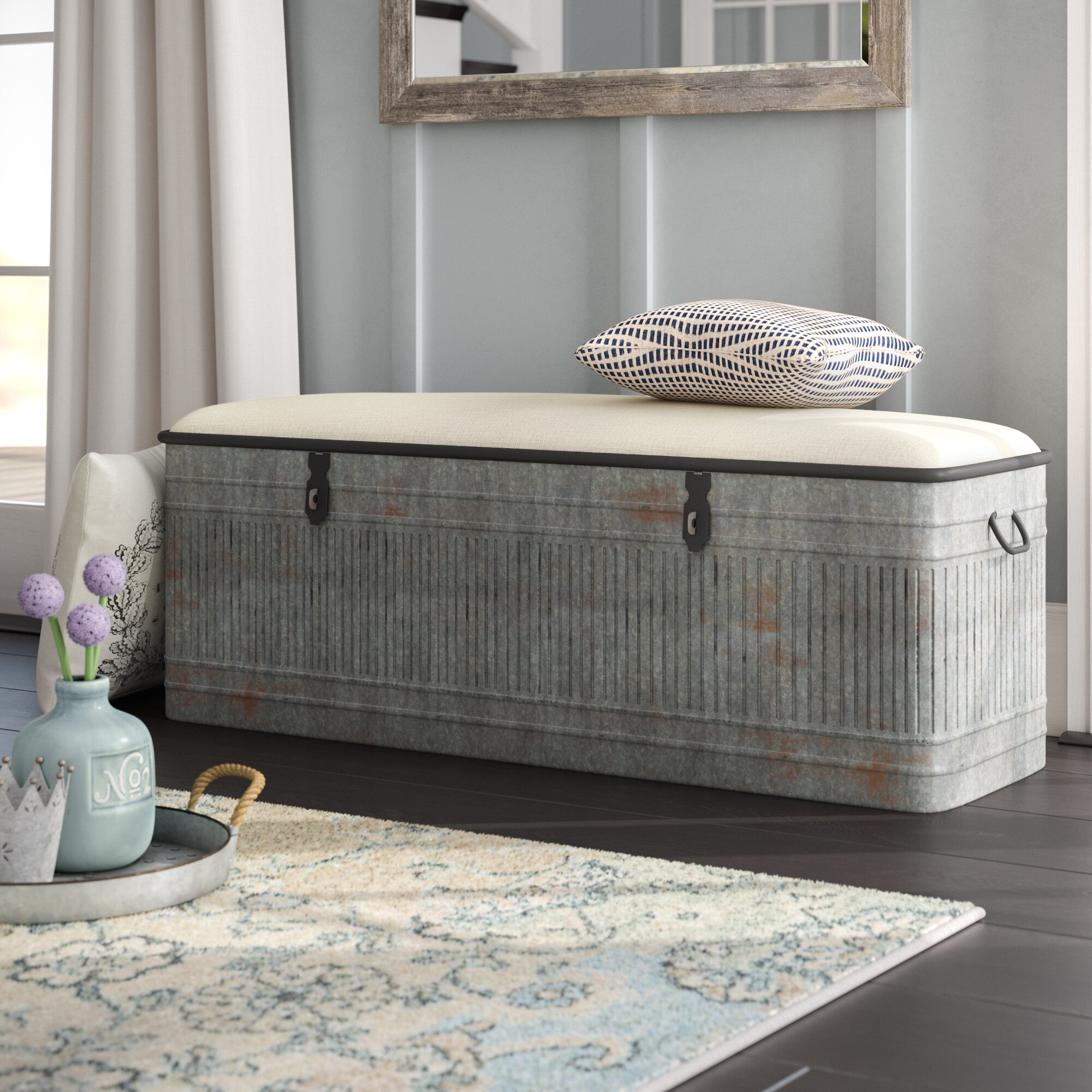 Brilliant August Grove Dublin Upholstered Storage Bench Reviews Caraccident5 Cool Chair Designs And Ideas Caraccident5Info