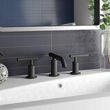 Purist Widespread Faucet with Drain Assembly Low Lever Handles and Low Spout