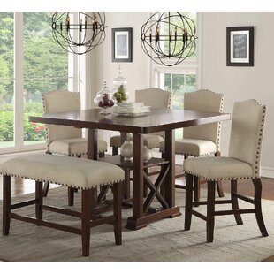Amelie II 6 Piece Counter Height Dining Set Infini Furnishings